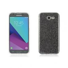 3 in 1 Grey glittery TPU crystal case