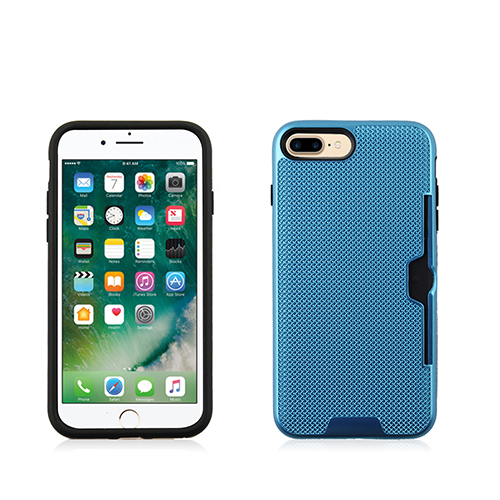 Blue Net metalic fusion case with credit card Case