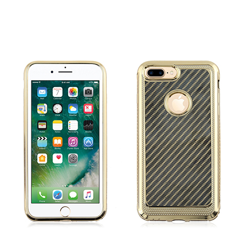 Gold/black laser carbon patter TPU cystal case