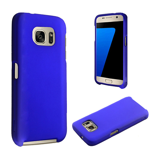 Blue rubber finish snap on case