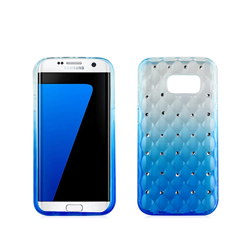 Blue gradient dazzle crystal TPU case